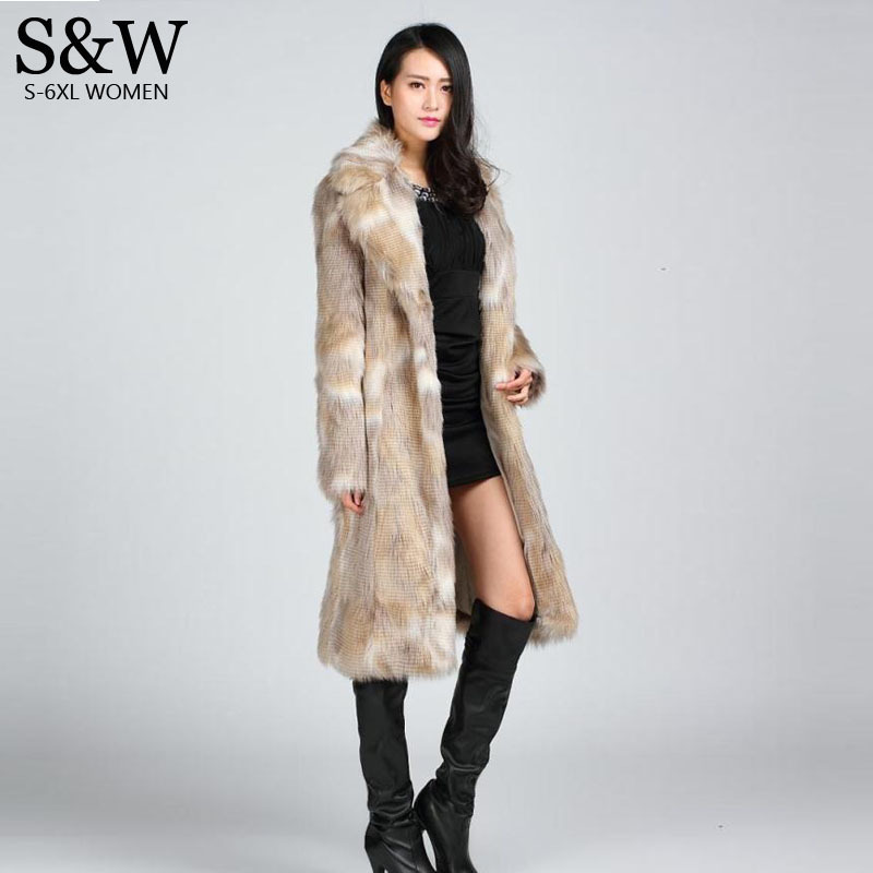 Здесь продается  Fashion New Winter Raccoon Fur Long Overcoat Plus Size Women Fur Coats Quality Trench XXXL 4XL 5XL Outerwear Black Brown  Одежда и аксессуары