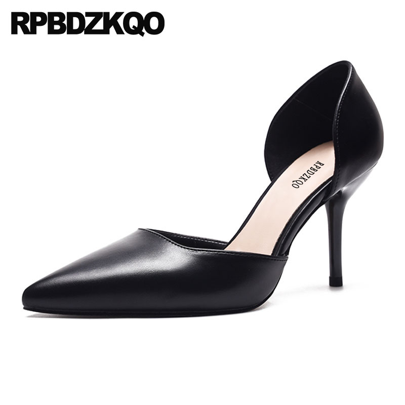 2018 Women High Heels Pumps Office Nude Shoes Black Kitten 3 Inch Pointed Toe Medium Size 4 34 D'orsay Sandals Summer Scarpin pointed toe slip on high heels strappy 2017 chic size 4 34 black ladies kitten sandals medium fashion low summer shoes slingback page 7