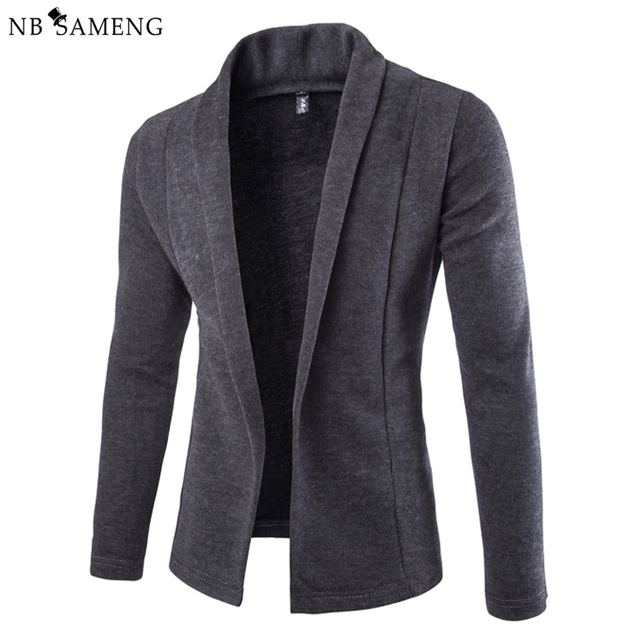 2017 New Fashion British Style Men Knitted Sweater Solid Cardigan ...