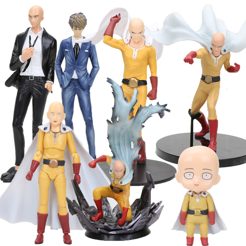 DXF Anime ONE PUNCH MAN Saitama Figure Toys Saitama Figma 310 575 Genos Nendoroid Figure PVC Model Toys
