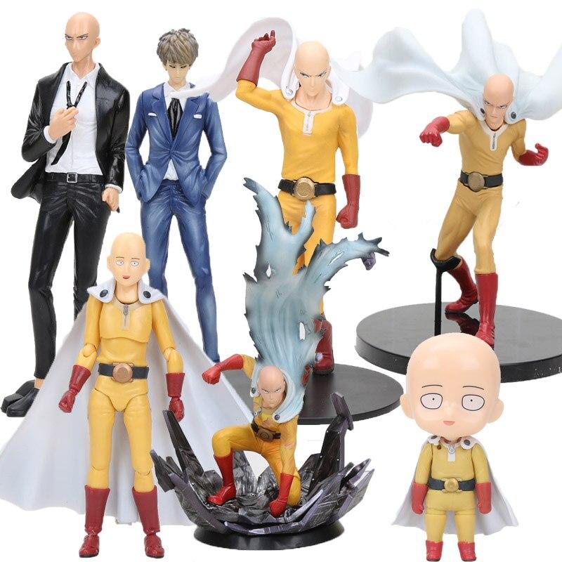 Dxf anime um soco homem saitama figura brinquedos saitama figma 310 575 genos nendoroid figura pvc modelo brinquedos