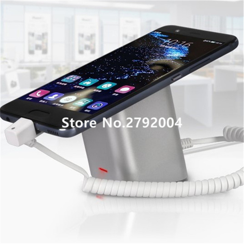 10pcs/lot cell phone security anti-theft display stand with alarm and charging function for mobile phone retail store exhibition wholesale price mobile phone anti theft alarm display stand with charging for exhibition