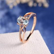 Exquisite Women Oval Rings Jewelry Bride Engagement Wedding Ring Anillos Fancinating Ornaments Stylish Ring Pendientes Aneis(China)