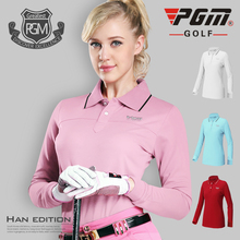 PGM Authentic Clothes Golf Long Sleeve Polo T-shirt Ladies Shirt Tennis Tshirt Quick Dry Ropa De Golf Polera Hombre Sportswear