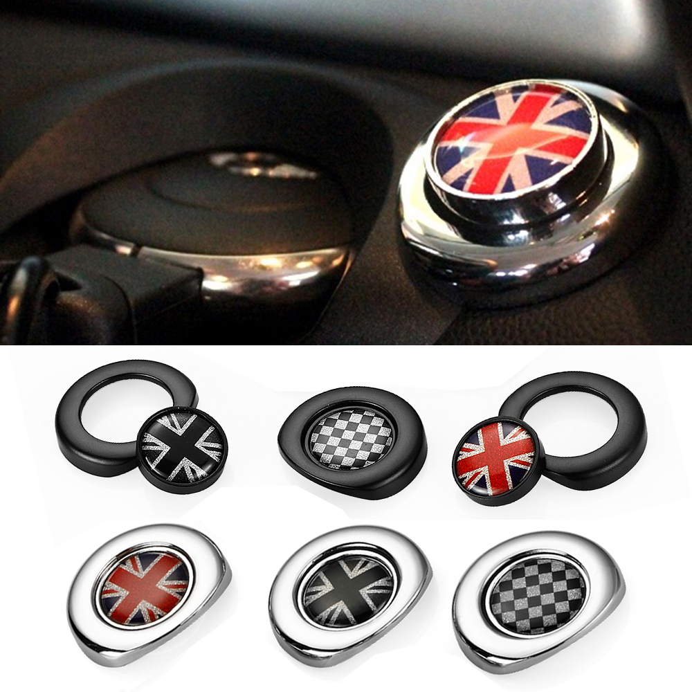 car styling interior ignition start button sticker for mini cooper countryman clubman r55 r56. Black Bedroom Furniture Sets. Home Design Ideas