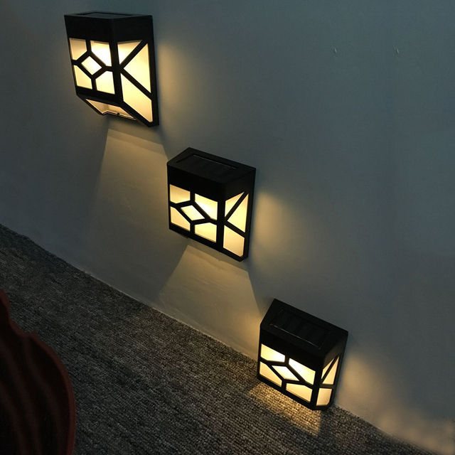 Aliexpress  Wasserdichte 4 stücke 2 LED Solar Gartenleuchten - lampen ausen led 2