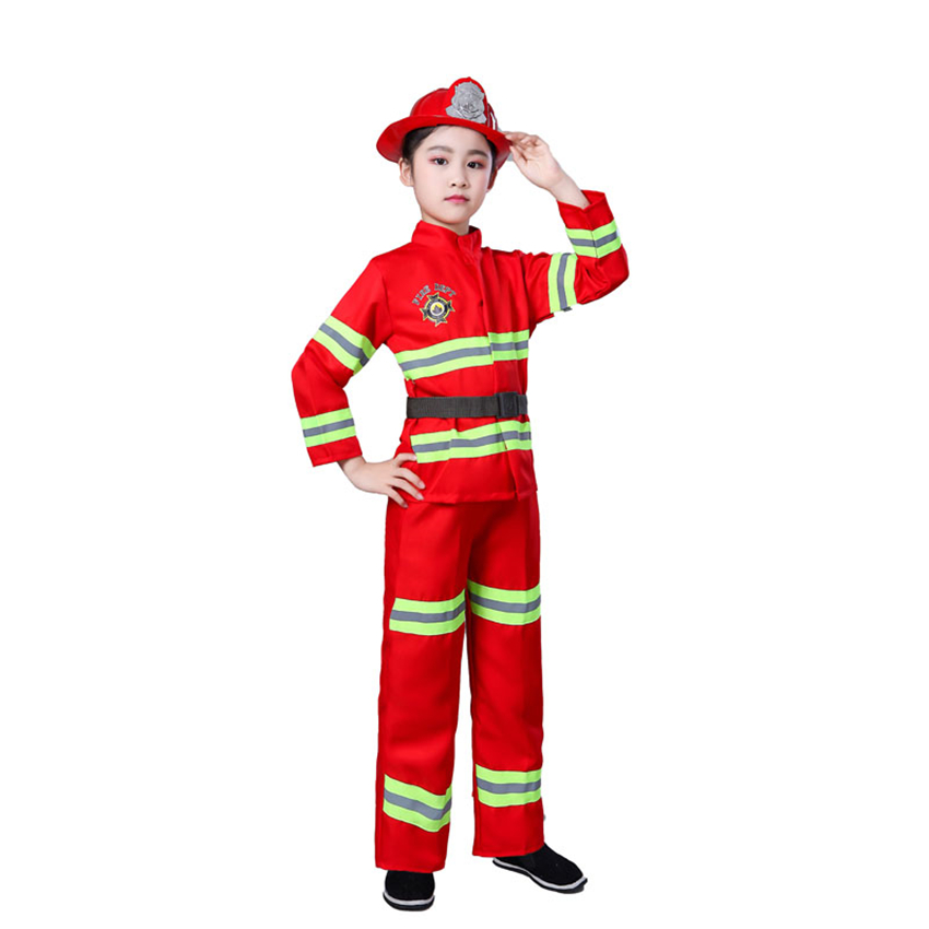 Halloween Children Costumes Children's Day Party Firefighter Cosplay Costume Carnival Kids Clothing Set Performance Stage Wear
