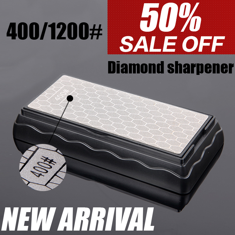 <font><b>400</b></font> <font><b>1000</b></font> 1200 grit diamond kitchen knife sharpener professional sharpening stone sharpening for a knife fine and coarse grinding image