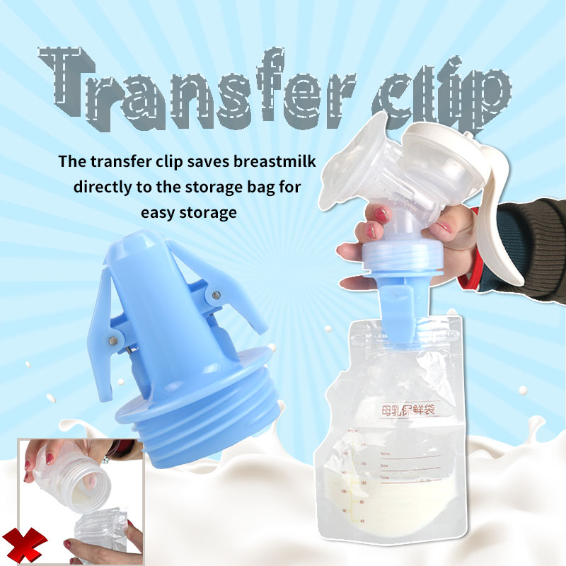 Transfer clip breast pump and breast milk storage bag electric breast pump manual breast pump convenient storage of breast milk