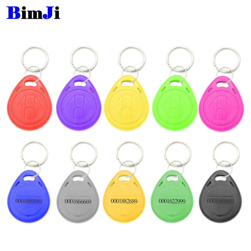 100pcs Rfid Tag 125Khz TK4100 EM4100 Proximity RFID Card Keyfobs Access Control Smart Card 10 Colors Free Shipping-in IC/ID Card from Security & Protection