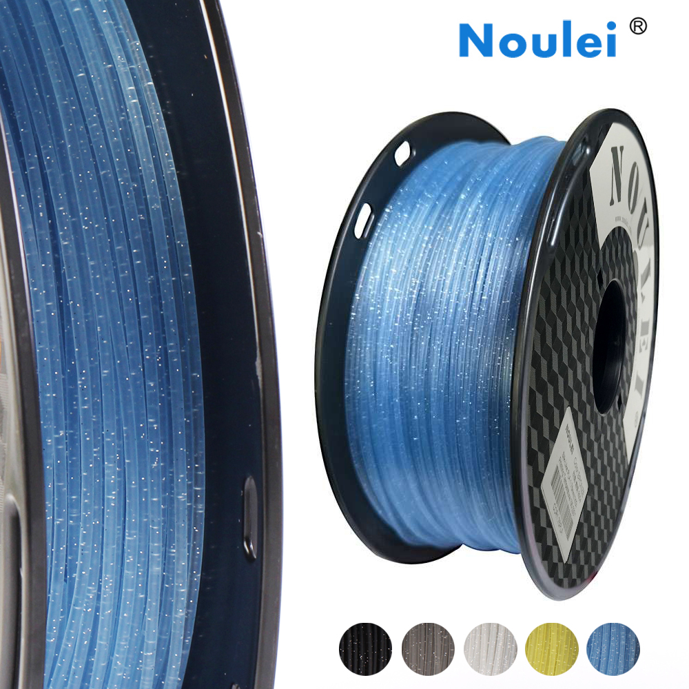 Noulei 3D Printer pla Filament 1.75mm 1kg Crystal texture glittering Galaxy Printing Material Glittering Sparkling Blue-in 3D Printing Materials from Computer & Office    1