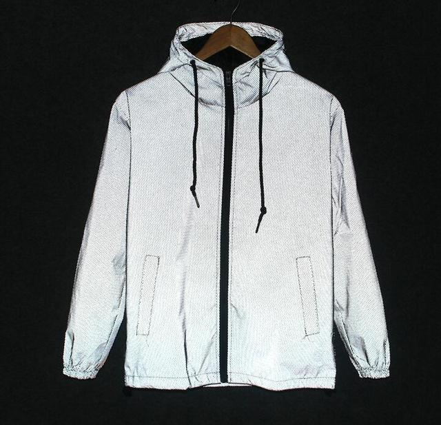 Sponge mice Free shipping Spring autumn men 3m reflective jacket windbreaker hooded coat sportwear jacket