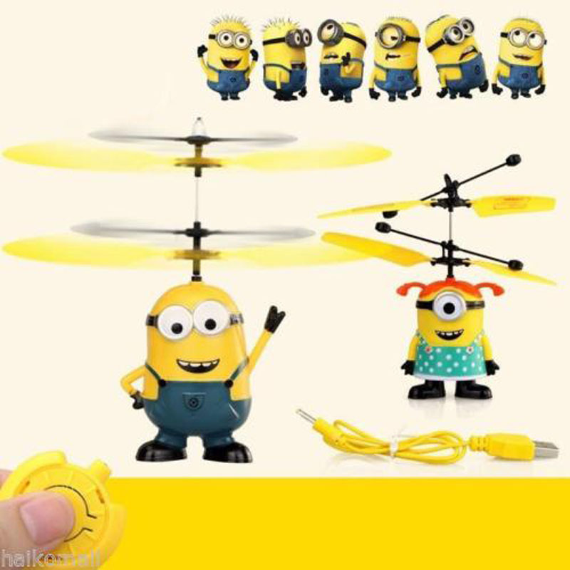 Touching induction Aircraft Helicopter <font><b>Flying</b></font> Minion/Captain America/ <font><b>Spiderman</b></font>/Superman/Big <font><b>Hero</b></font> Quadcopter Drone Kids Toy