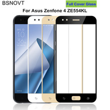 2pcs Screen Protector Asus ZenFone 4 ZE554KL Glass Tempered Glass For Asus ZenFone 4 ZE554KL Full Cover Glass ZE554KL BSNOVT смартфон asus zenfone 4 ze554kl black 90az01k1 m01210
