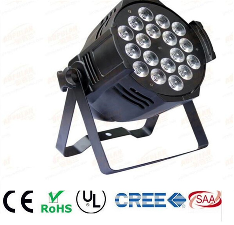 6pcs/lot, LED par 18x12W RGBW 4in1 Quad LED Par Can Par64 led spotlight dj projector wash lighting stage light light 6pcs lot led par 84x3w rgbw light par64 rgb stage light decoration dmx wedding party bar lighting disco
