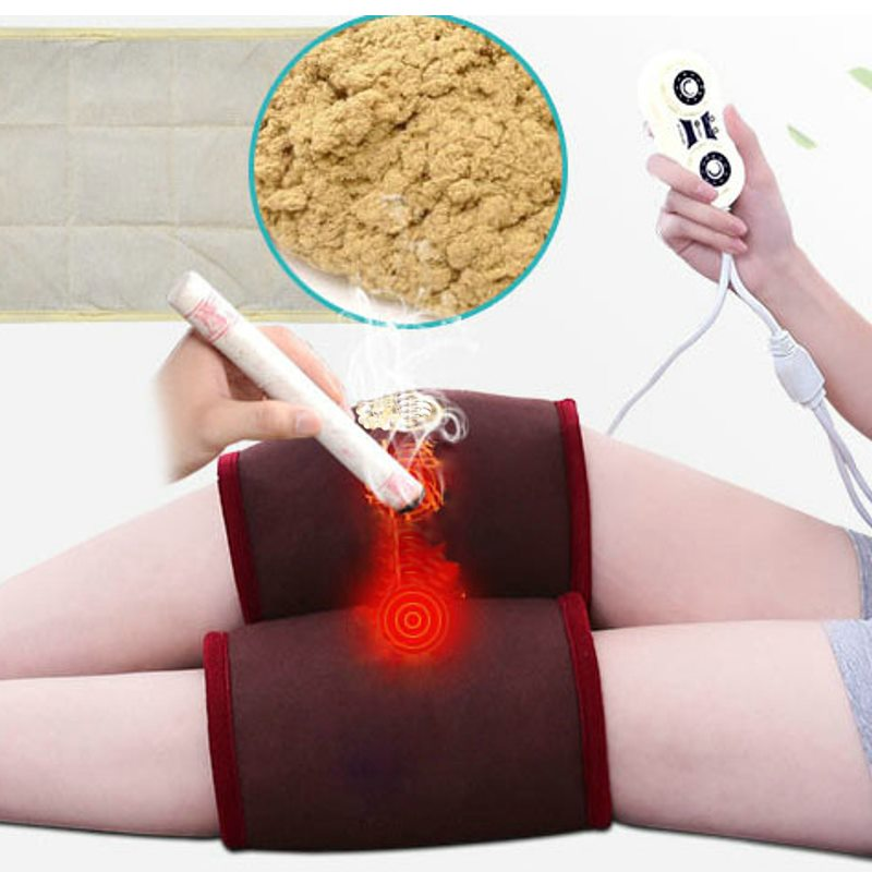 Electric Hot Care Knee Electronic Moxibustion Pad Household Chinese Medicine Tool Warm Palace Bag Physiotherapy Compress цена