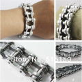 width of 16.0mm huge&heavy fashion links chain bracelet as 316L stainless steel motorcycle bike bangle for men punk biker