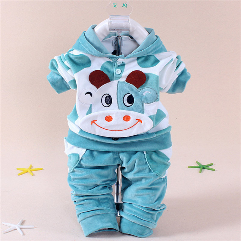Newborn Baby Boys Clothes Autumn Winter Baby Girls Clothes Rabbit Hoodie Pant Costume Outfit Suit Infant