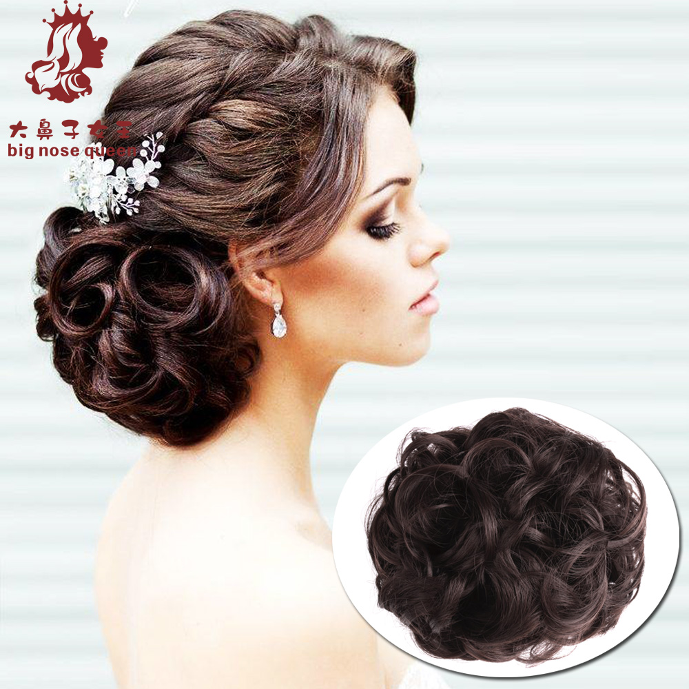 chignon wedding picture - more detailed picture about women curly