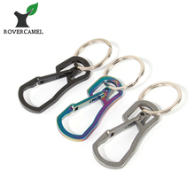 Rover Camel Chrome Steel High Loading-bearing Carabiner Stainless Steel Keychain Outdoor Hook EDC Tool