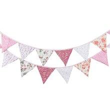 12 fahnen 3,2 m Banner Bunting Nordic Blumen Wimpel Papier Flagge Party Glocke Girlande Geburtstag Hochzeit Dekoration Party