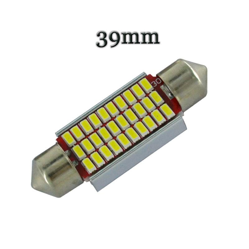 100 stücke Girlande Luzes C5W NENHUM Polar 0.12A 31mm 36mm 39mm 41mm 18 27 30 33 SMD 3014 LED luzes de Mapa Lampada de Xenonio