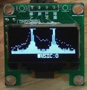 Image 5 - GHXAMP מיני OLED מוסיקה ספקטרום תצוגת מונו VU מטר רמת מחוון DIY אוזניות 3.3 5V 8 סוגים אפקטים 0.96 אינץ 28*30mm