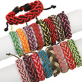 Hot Sale Fashion Women Girls Animal Rope Bracelets Stainless Steel Charm Braided Friendship Color Leather Bracelets