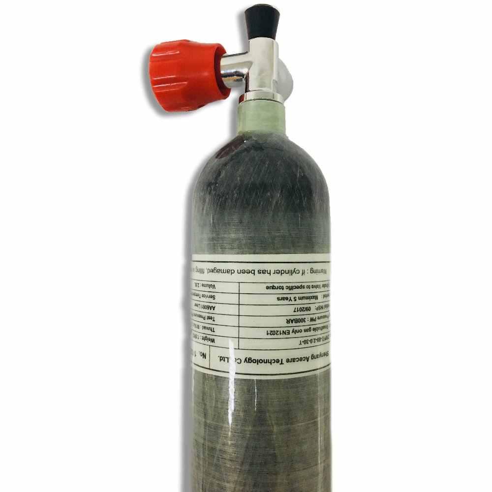 AC10211 بندقية مضغوط الهواء بالون 2L البسيطة زجاجة الغوص Ce اسطوانة Pcp خزان من ألياف الكربون 4500Psi ل ضاغط 300 بار