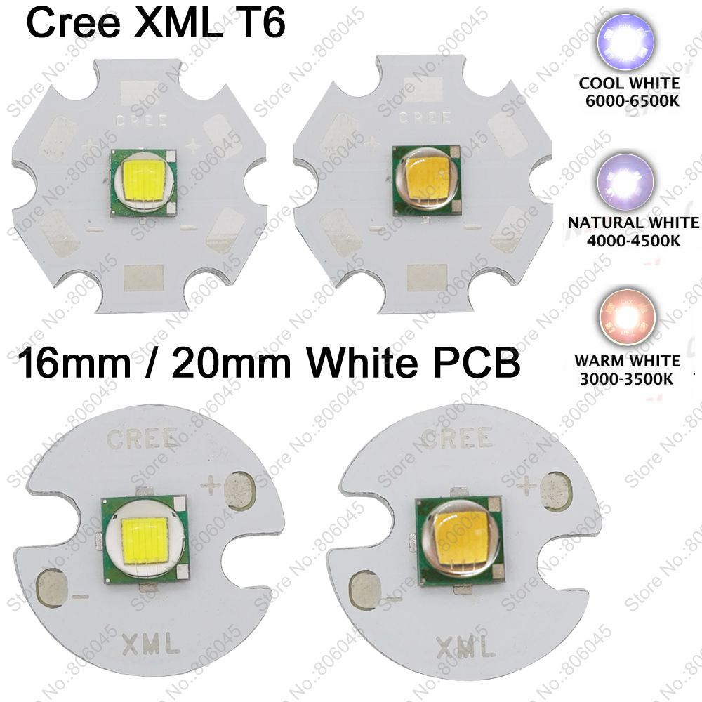 Home original cree xm l2 xml2 led emitter lamp light cold white - Cree Xml Xm L T6 10w Cool White 6500k Neutral White 5000k Warm White 3000k