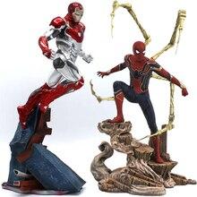 Мстители Марвел Капитан 22-27 см танос Железный человек Человек-паук Дэдпул данверс статуя KO's железные студии ПВХ Фигурки игрушки