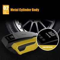 Portable High Power Tire Inflator Pump 12V Auto Digital LED Display Emergency Air Compressor Pump For