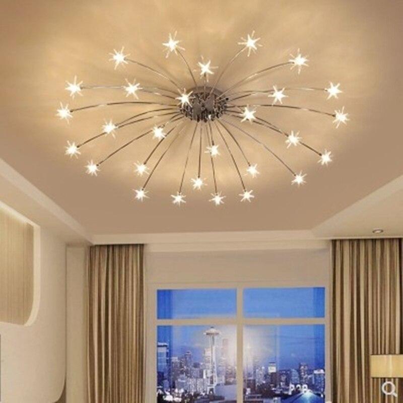 Modern Star Ceiling Light For Living Room Bedroom Restaurant G4 Bulb Home Lighting Fixtures