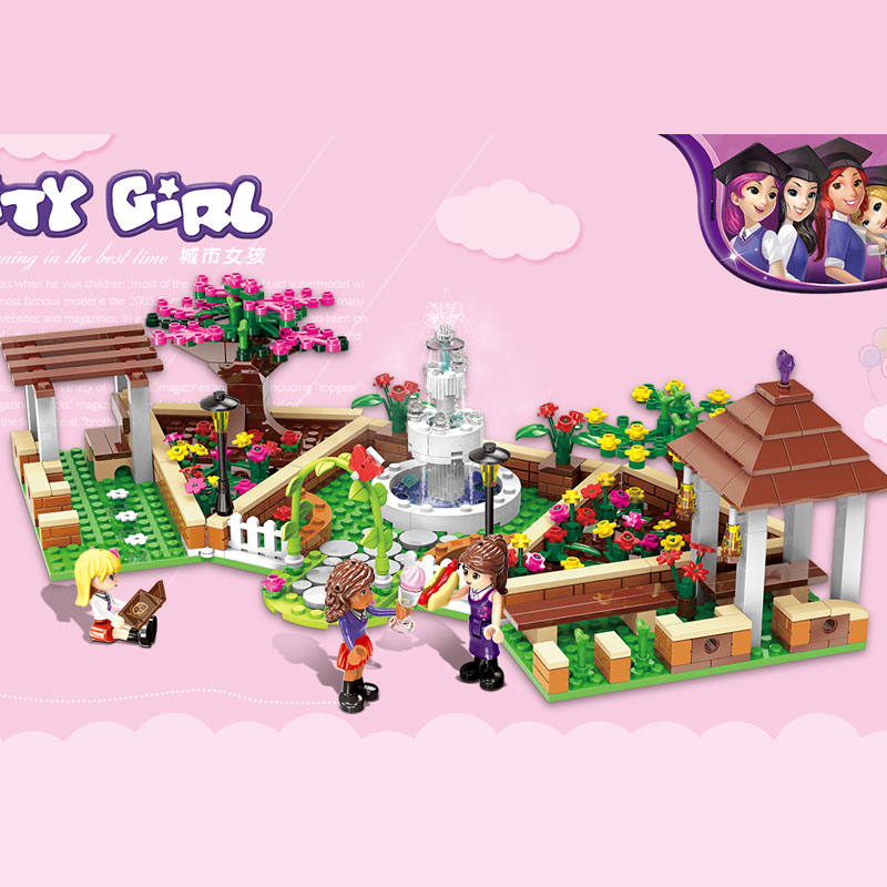 XINGBAO 12004 554Pcs City Girl Series The Corner of the School Set Building Blocks Bricks Educational Funny Toys Gifts for Girls vay 12004