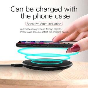 Image 4 - HOCO Qi kablosuz şarj 5V2A masaüstü kablosuz şarj pedi iPhone XR Xs Max X 8 8 artı mi mi x 2s Samsung Galaxy S9 S8