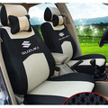 Серый/красный/бежевый/синий Вышивка логотипа Автомобиля Сиденья Передняя и Задняя полный 5 Сиденье Для Suzuki S-CROSS Jimny Grand Vitara Four Seasons