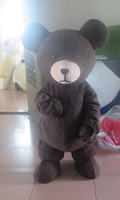 High quality top hat black bear cartoon costume bear mascot costume PROM dress skirt Party special clothing