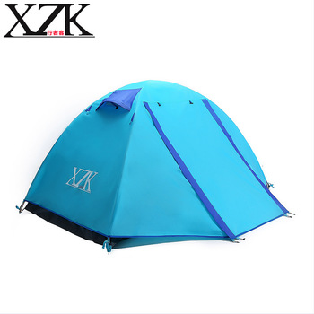 XZK 2017 Manual outdoor wind and rain and mountain climbing c&ing tent 2-3 people  sc 1 st  Aliexpress & Online Shop Jungle King 2017 new outdoor double 4 aluminum pole ...