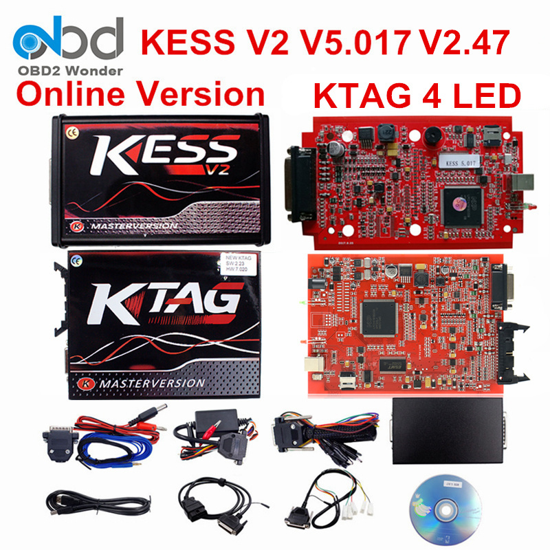 2017 Newly Ktag K-tag Main Unit K TAG ECU Chip Tuning Tool Ktag Hardware V6.070 Master Version ECU Manager Tuning Kit No Cables iphone
