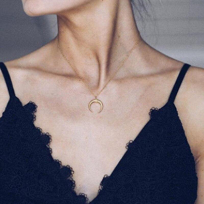 Крошечное ожерелье сердца для женщин Короткая Цепочка Сердце Звезда Кулон Ожерелье Подарок этническое богемское Колье чокер Прямая поставка A64 - Окраска металла: x87jin