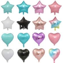 1 шт. 18 дюймов вышивка «звёздочки» или «бриллианты» надувной воздушный шар с гелием День рождения украшения дети Фольга воздушные шары для свадьбы, Рождества, поставки подарки