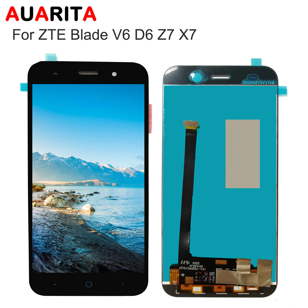 LCD For <font><b>ZTE</b></font> Blade X7 D6 V6 Z7 LCD Display Touch panel Screen glass Digitizer Aassembly Phone Parts For <font><b>ZTE</b></font> Blade X7 V6 <font><b>T660</b></font> T663 image