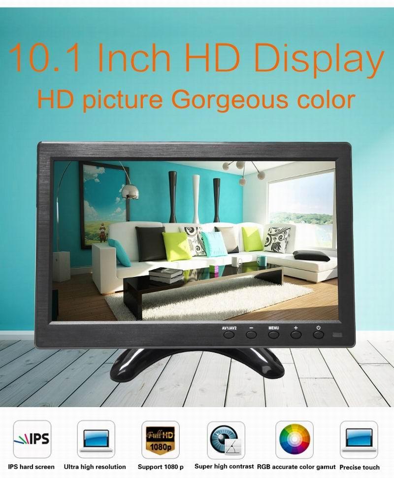Ouchunagbo 10.1 Pouce HD ips écran lcd 1024*600 écran de voiture AV VGA BNC HIMI entrée 1080 P Vidéo 2 voies vidéo entrée