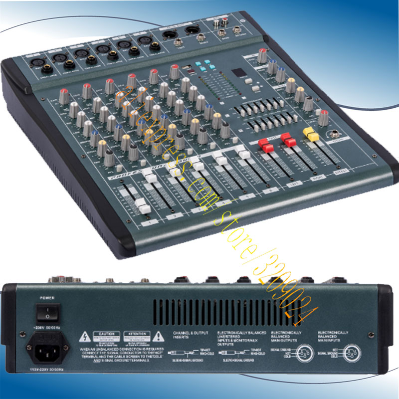 buy high quality 6 channel audio music usb mixer mixing console pro digital. Black Bedroom Furniture Sets. Home Design Ideas