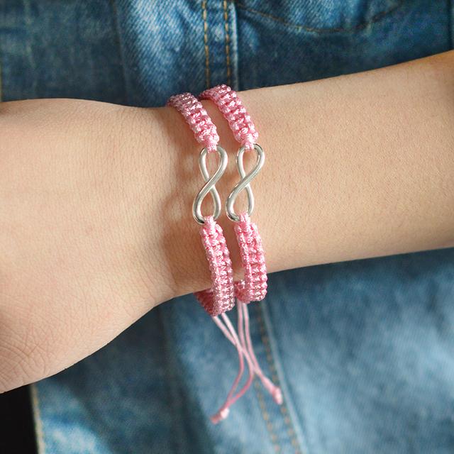 Couple Bracelet with Infinity Charm