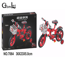 GonLeI 7064 Technic Motorbike Motorcycle Car bicycle building bricks blocks toys for children Boy Game Bela(China)