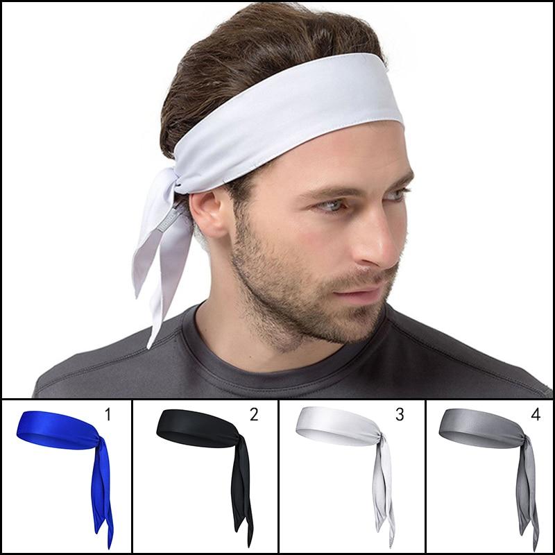 Unisex Women Men Fashion Cotton Sweat Sport Yoga Gym Sweatband Stretch Headband Hair Accessories Head Band Men Headbands Styling