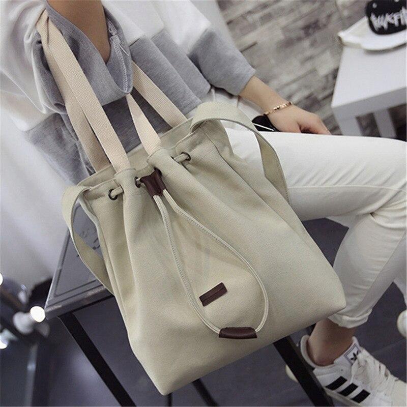 Solid Canvas Straw Bucket Handbag Shoulder Messenger Bag New Women's Girls Tote Purse Bags Casual Interior Zipper Pocket 2018 цена