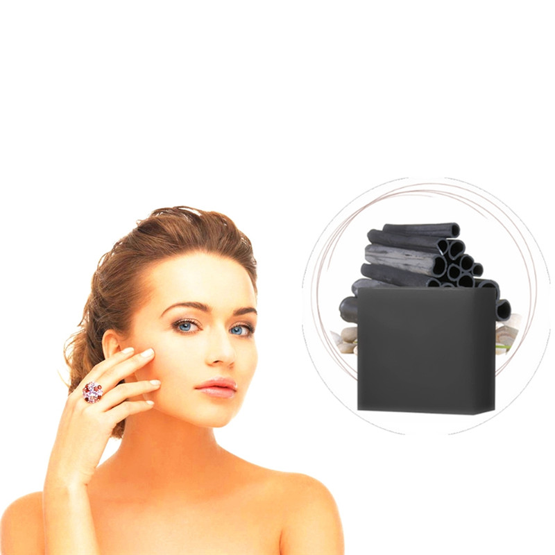 Face Skin Care Suction Black Bamboo Charcoal Handmade Soap Nose Blackhead Remover Acne Treatment Black Head Mud Bathing Soaps