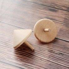 2 шт. Забавный изысканный вращающийся спиннинг классические детские игрушки подарок ручная работа из дерева Досуг игрушка волчок